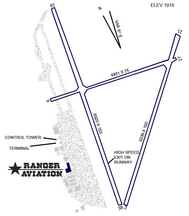 SJT Airport Diagram